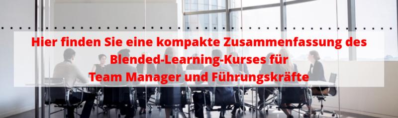 Blended Learning Kurs für Führungskräfte